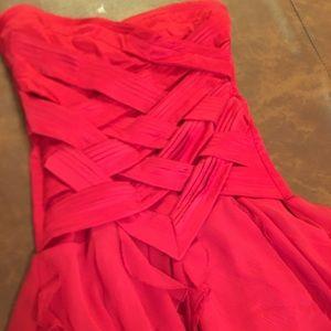 Red mini dress club wear